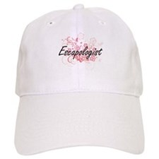 Escapologist Artistic Job Design with Flowers Baseball Cap