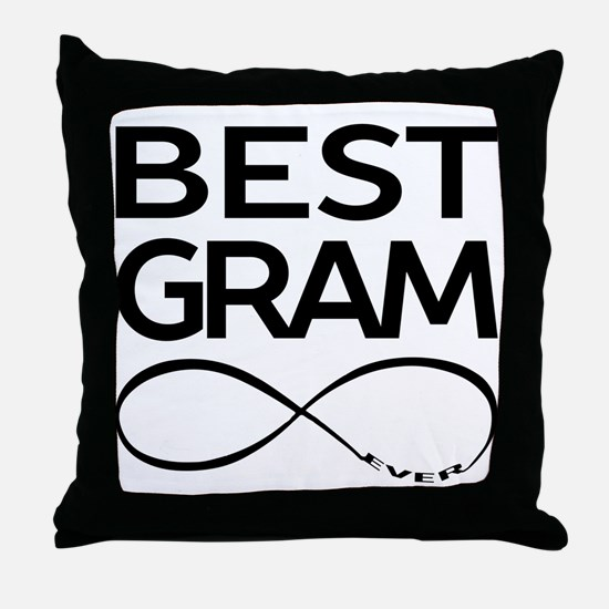 BEST GRAM EVER Throw Pillow