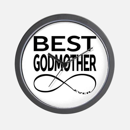 BEST GODMOTHER EVER Wall Clock