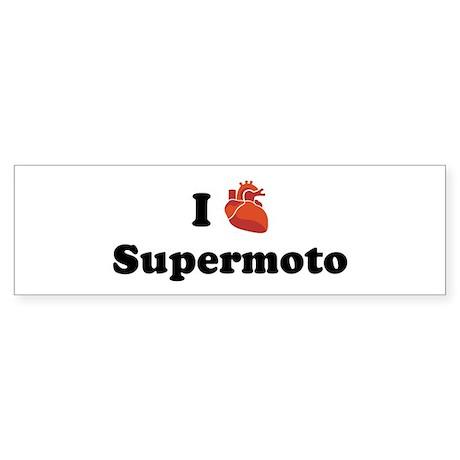 I (Heart) Supermoto Bumper Sticker