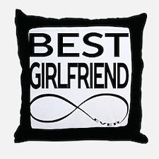 BEST GIRLFRIEND EVER Throw Pillow