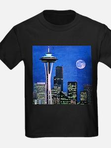 Seattle skyline t shirts shirts tees custom seattle for Custom dress shirts seattle