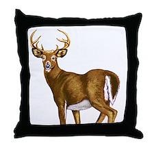 American White Tail Deer Buck Throw Pillow
