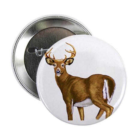 """American White Tail Deer Buck 2.25"""" Button"""