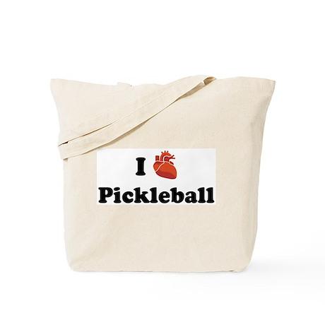 I (Heart) Pickleball Tote Bag