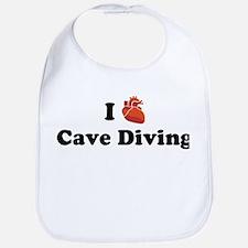 I (Heart) Cave Diving Bib