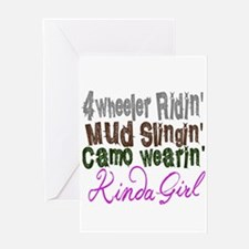 camo wearin, Greeting Cards