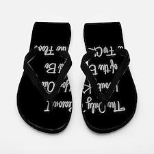 Naughty: F*ck on the floor Flip Flops
