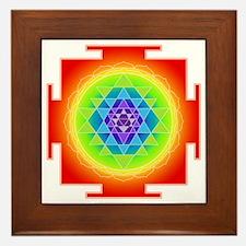 Cute Sri yantra Framed Tile