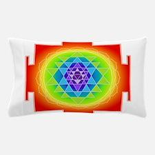 Sri Yantra, Orange Pillow Case