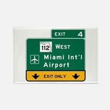 Miami Intl Airport, FL Road Sign, Rectangle Magnet
