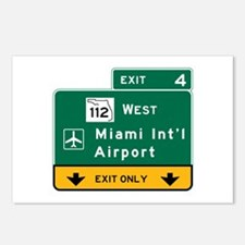 Miami Intl Airport, FL Ro Postcards (Package of 8)