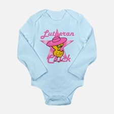Lutheran Chick #8 Long Sleeve Infant Bodysuit