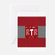 RTR houndstooth Greeting Cards