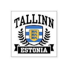 """Cute Estonia Square Sticker 3"""" x 3"""""""