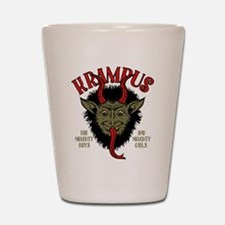 Krampus Face Naughty Shot Glass