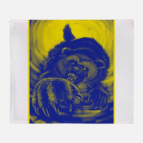 Wolverine Enraged Throw Blanket