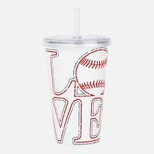 Love Baseball Classic Acrylic Double-wall Tumbler