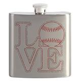 Baseball Flask Bottles