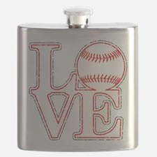 Love Baseball Classic Flask