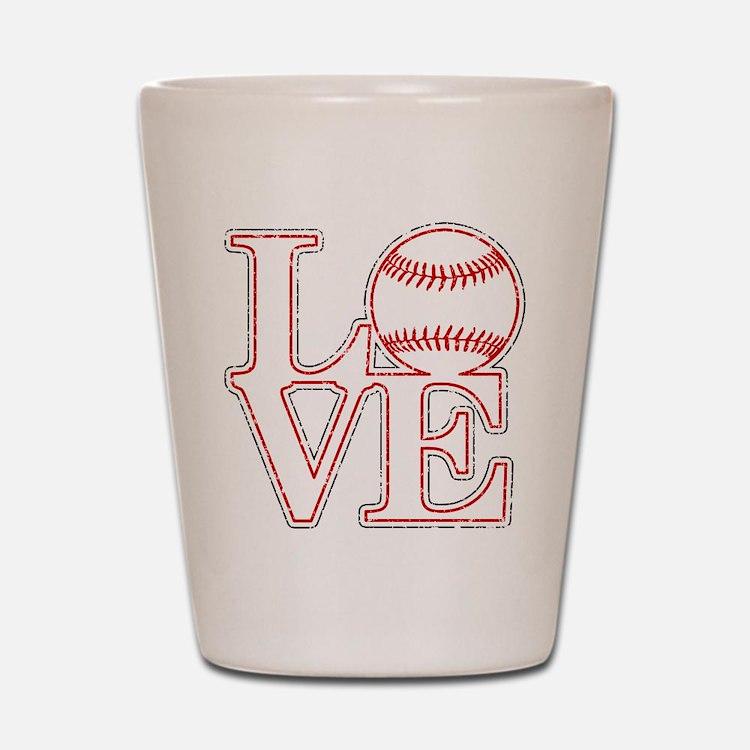 Love Baseball Classic Shot Glass