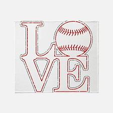 Love Baseball Classic Throw Blanket