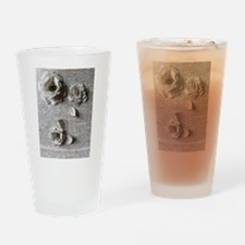Paper Rose 3D Artwork Print Drinking Glass
