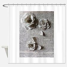 Paper Rose 3D Artwork Print Shower Curtain