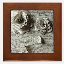 Paper Rose 3D Artwork Print Framed Tile