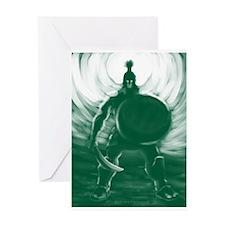 Hoplite Warrior Greeting Cards