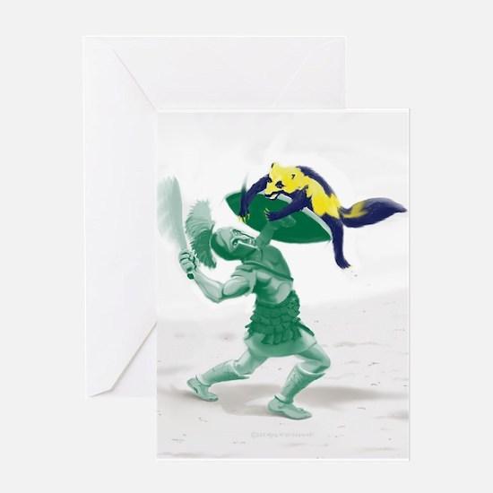 Hoplite vs. Wolverine Greeting Cards