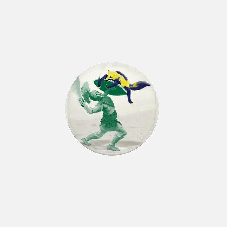 Hoplite vs. Wolverine Mini Button