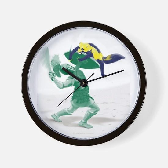 Hoplite vs. Wolverine Wall Clock