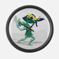 Hoplite vs. Wolverine Large Wall Clock