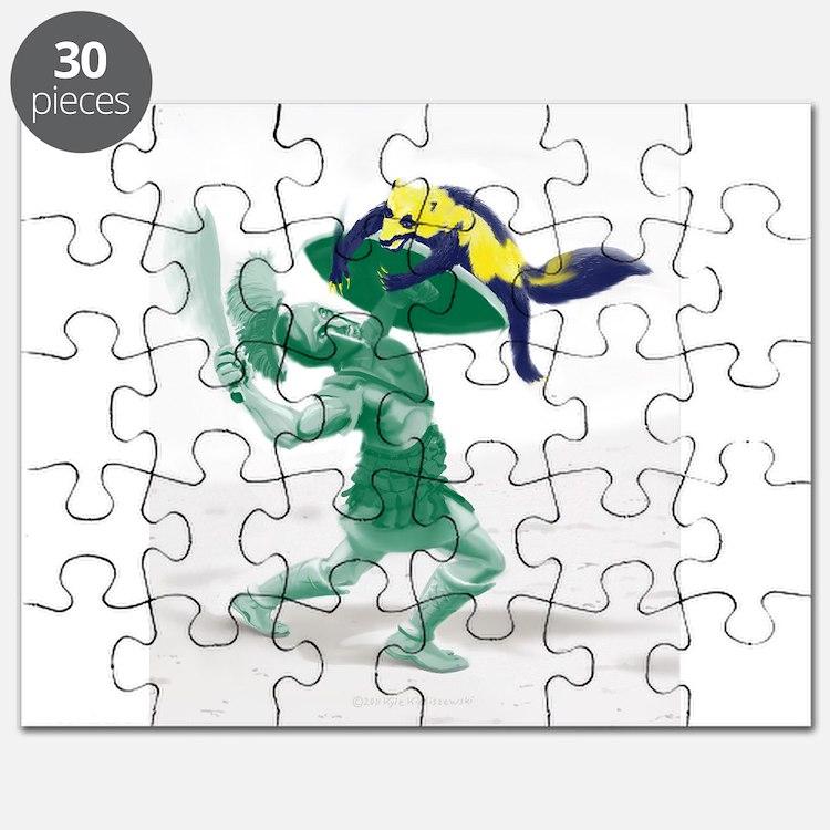 Hoplite vs. Wolverine Puzzle
