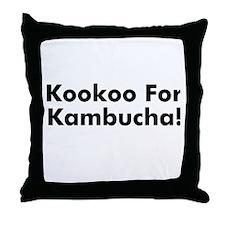 Kookoo For Kambucha! Throw Pillow