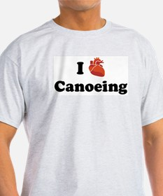 I (Heart) Canoeing T-Shirt