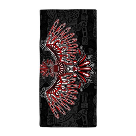 eagle tattoo style haida art beach towel by bluedarkartgifts. Black Bedroom Furniture Sets. Home Design Ideas