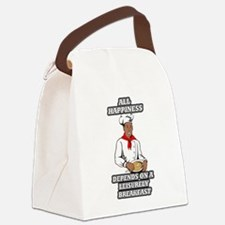 All Happiness Depends On A Leisur Canvas Lunch Bag