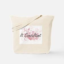 It Consultant Artistic Job Design with Fl Tote Bag