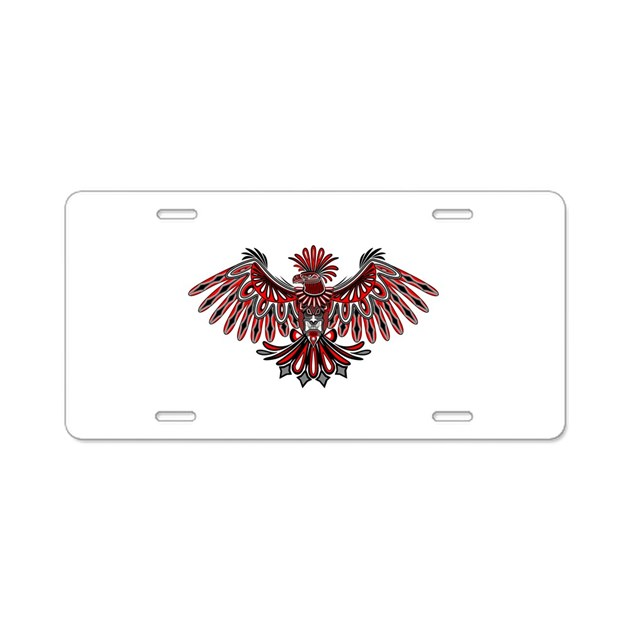 Eagle tattoo style haida art aluminum license plat by for Tattoo artist license