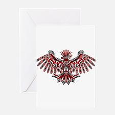 Eagle Tattoo Style Haida Art Greeting Cards