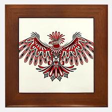 Eagle Tattoo Style Haida Art Framed Tile