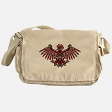 Eagle Tattoo Style Haida Art Messenger Bag