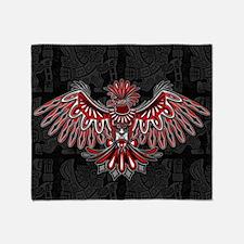 Eagle Tattoo Style Haida Art Throw Blanket