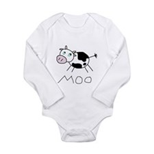 Moo Long Sleeve Infant Bodysuit