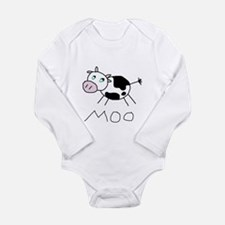 Cute Moo Long Sleeve Infant Bodysuit