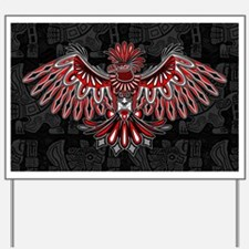 Eagle Tattoo Style Haida Art Yard Sign