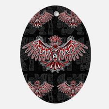 Eagle Tattoo Style Haida Art Oval Ornament