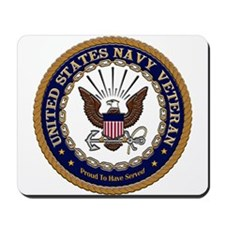 US Navy Veteran Proud to Have Served.png Mousepad